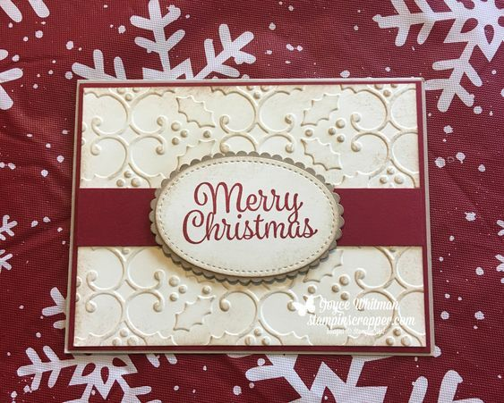this is my customer christmas card for this year i used the snowman sentiments stamp set and the holly embossing folder from pinteres
