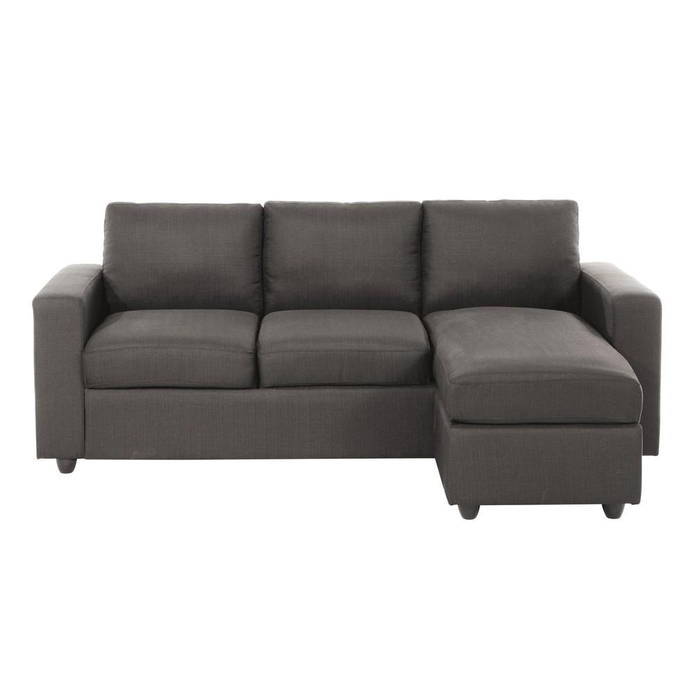 Canapé d'angle modulable 3 places gris Jules | Products | Pinterest