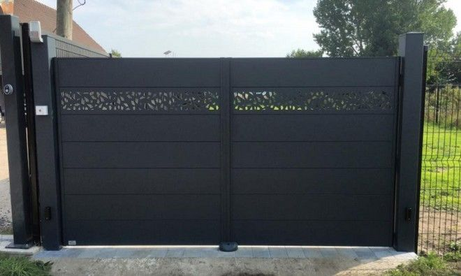 Axihome By Me Avec Motifs Decoupes Art Portails Door Gate Design House Gate Design Main Gate Design