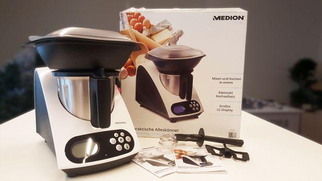 Test Medion-Küchenmaschine mit Kochfunktion (MD 16361) gegen - kochen mit küchenmaschine