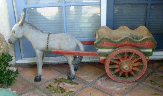 vintage donkey and cart