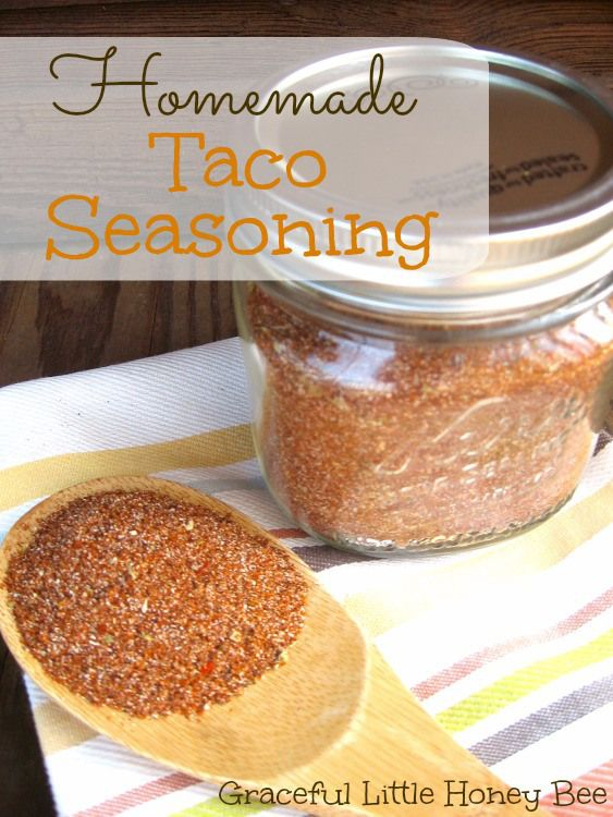 Homemade Taco Seasoning - Graceful Little Honey Bee