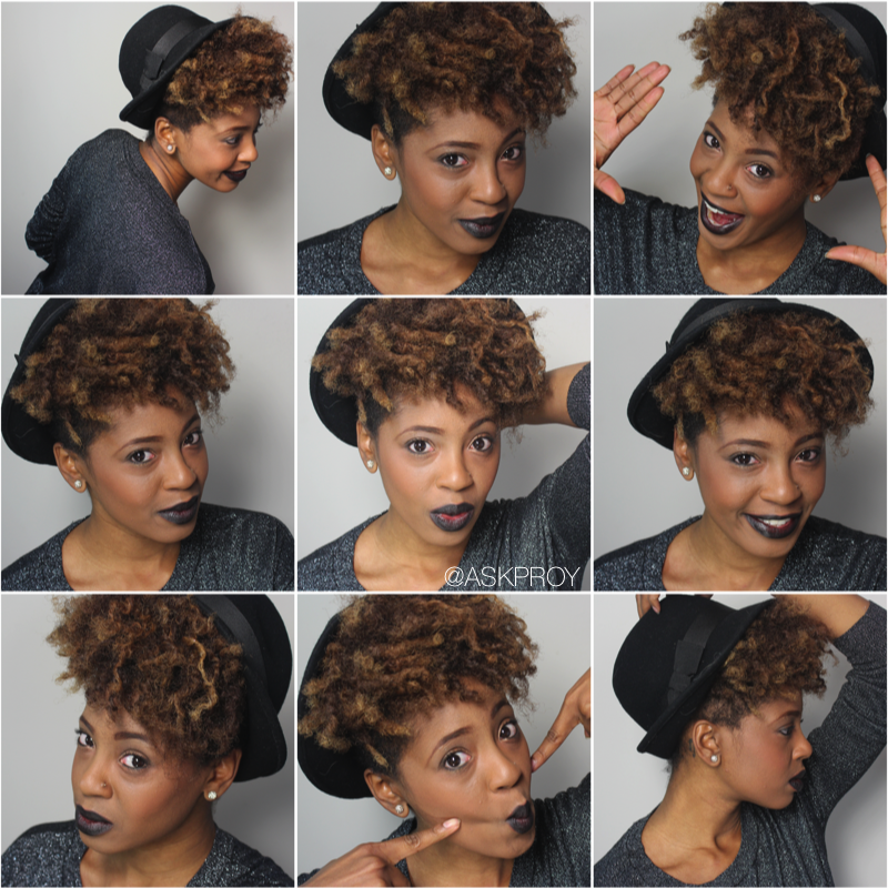 How To Wear A Hat Over Your Natural Hair Natural Hair Styles Short Hair Styles Curly Hair Styles Naturally
