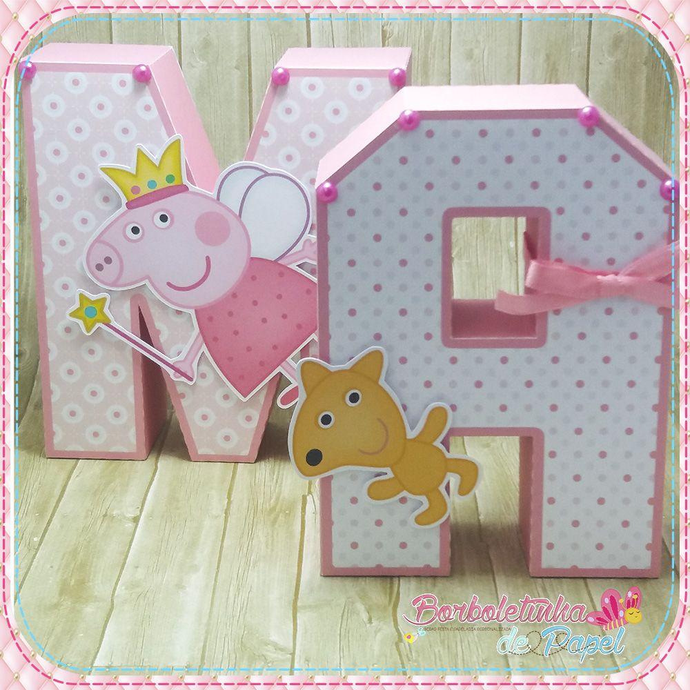 Resultado De Imagem Para Artesanato Letras Decoradas De Flores  # Muebles De Peppa Pig