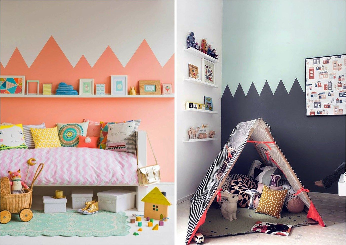 Fun And Creative Paint Ideas For Your Walls Two Tone Walls Kids Room Paint Kid Room Decor