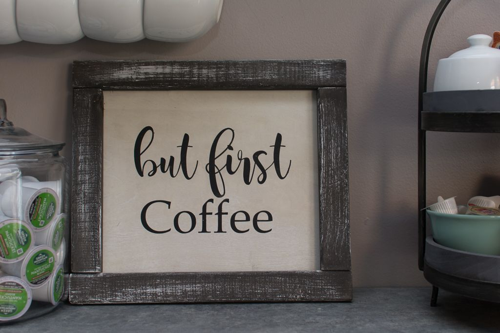 """""""but first coffee"""" sign woodsign farmhousedecor"""