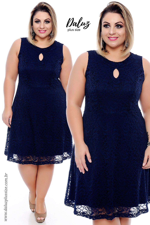 d72bad524 Vestido Plus Size Pocema - Coleção Vestidos Plus Size - @daluzplussize