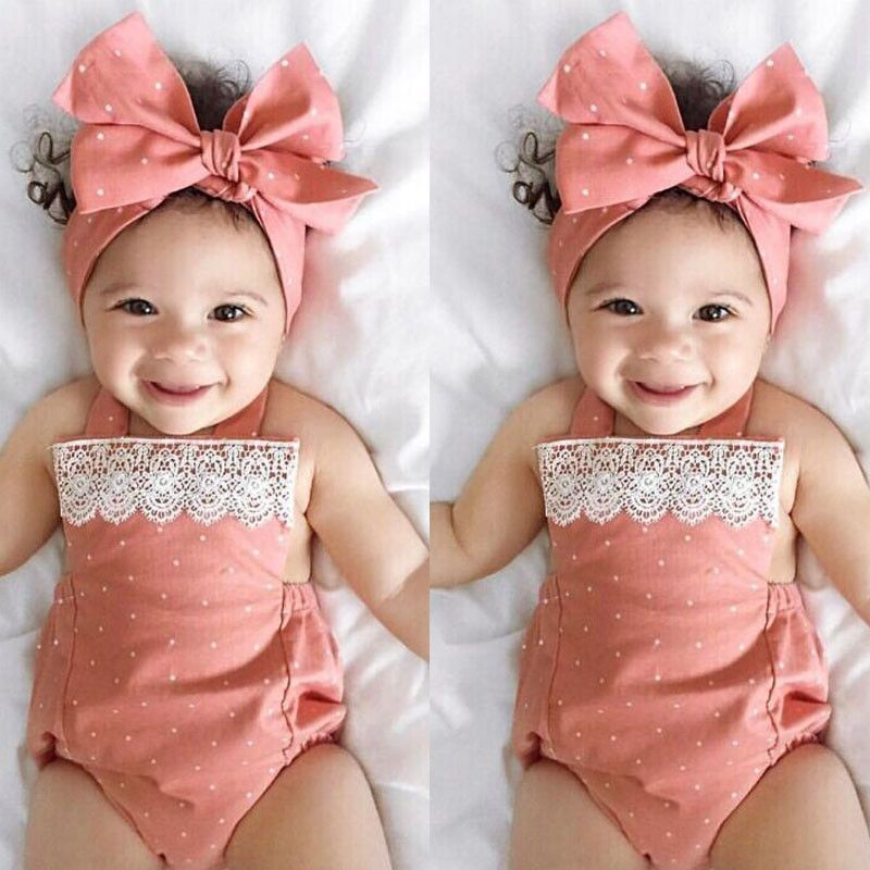 Toddler Newborn Baby Girls Romper Jumpsuit Bodysuit Infant Clothes Outfits Set