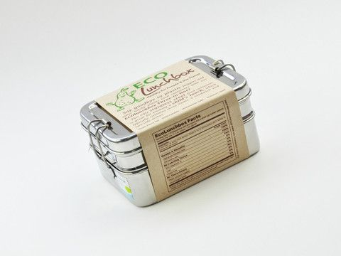 Eco Lunchbox 3 In 1 Love The Idea Stainless Steel No