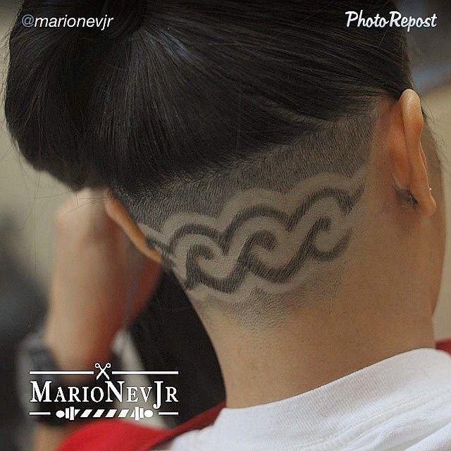 rasierte haare rasieren muster nacken tattoo haar tattoos tatoo rasiert unterschnittenen design friseurladen natrliche kurzhaarfrisuren - Muster In Haare Rasieren