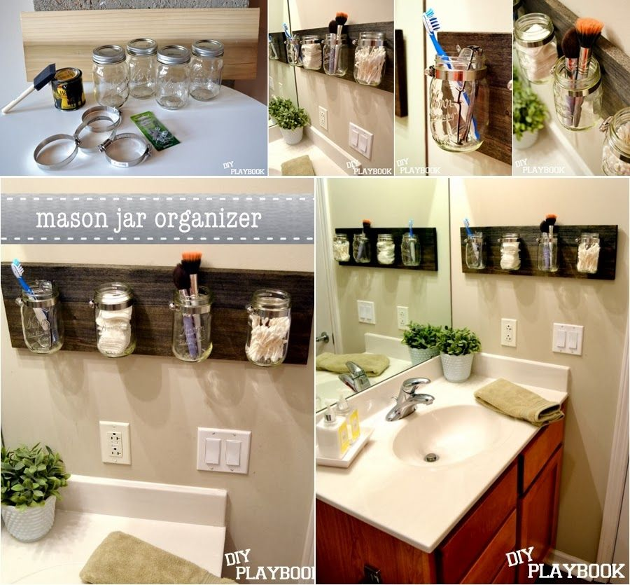 Diy Bathroom Projects diy projects: diy mason jar bathroom organizer | diy & craft love