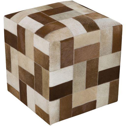 Surya Poufs Cube Pouf - Animal - POUF-241