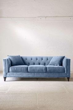 Why Not Put A Light Blue Velvet Sofa In
