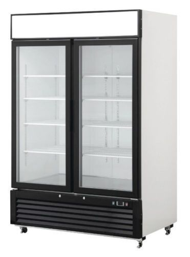 2 Door Glass Front Reach In Freezer Merchandiser Commercial Mcf8712 Glass Door Double Glass Doors Double Glass