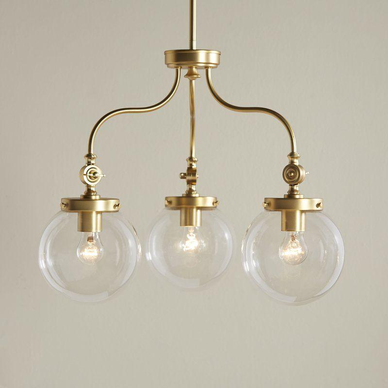 Wyndam 3-Light Mini Chandelier   Mini chandelier, Chandeliers and Lights