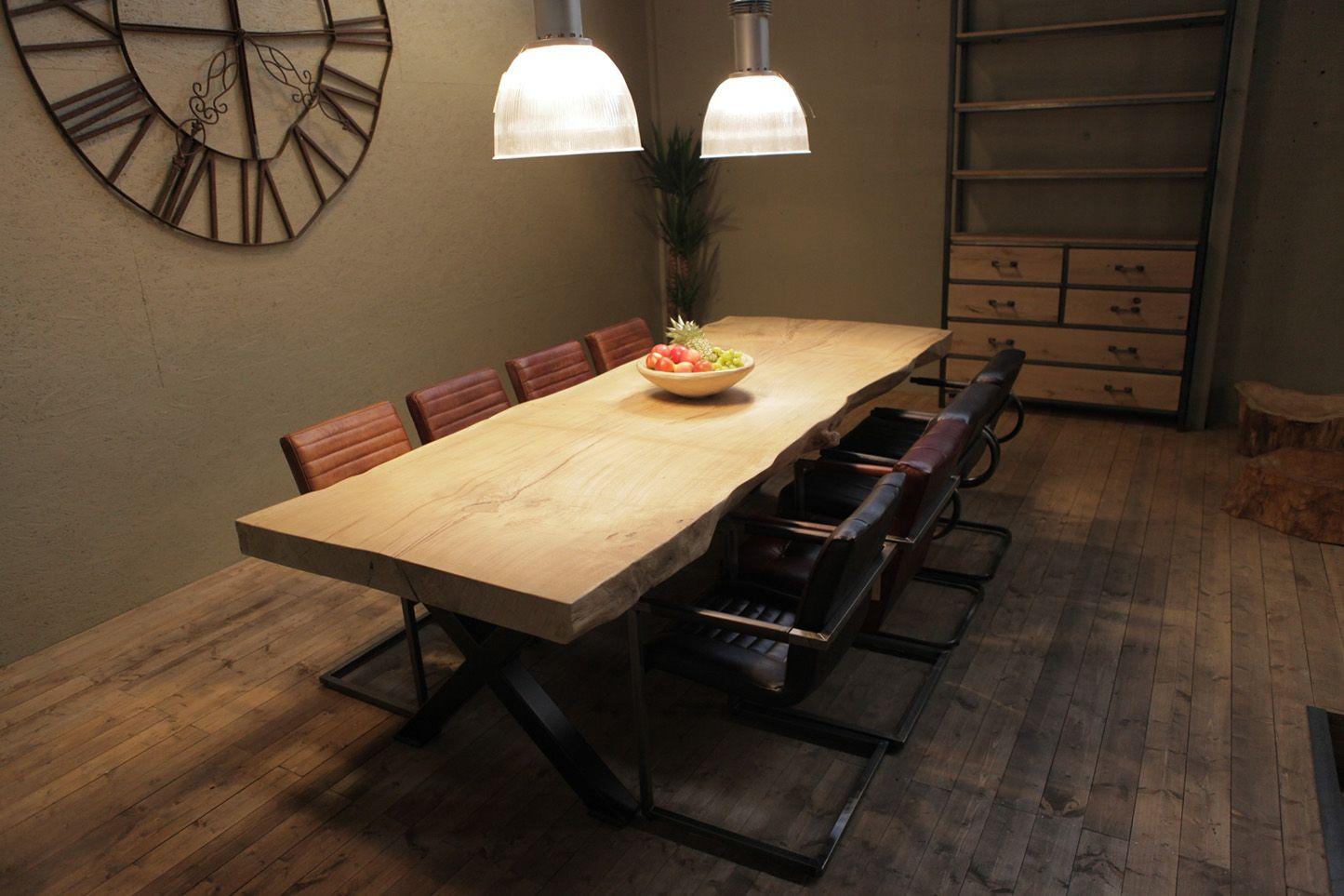 Oak&Steel - Tafels | Boomstamtafel uit 1 stuk XL