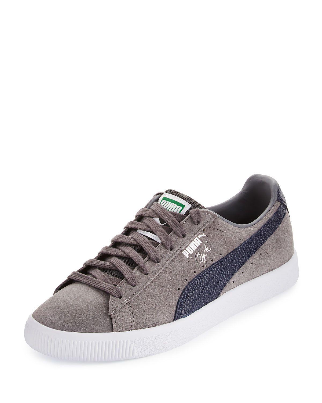 Clyde B&C Suede Low-Top Sneaker, Gray
