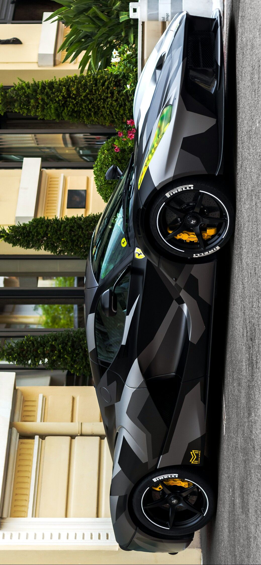 LaFerrari wrapped in Stealth Camouflage, image provided ...