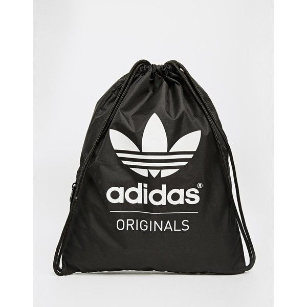 06e1b7228adc adidas Originals Gymsack in Black (380 MXN) ❤ liked on Polyvore featuring  bags