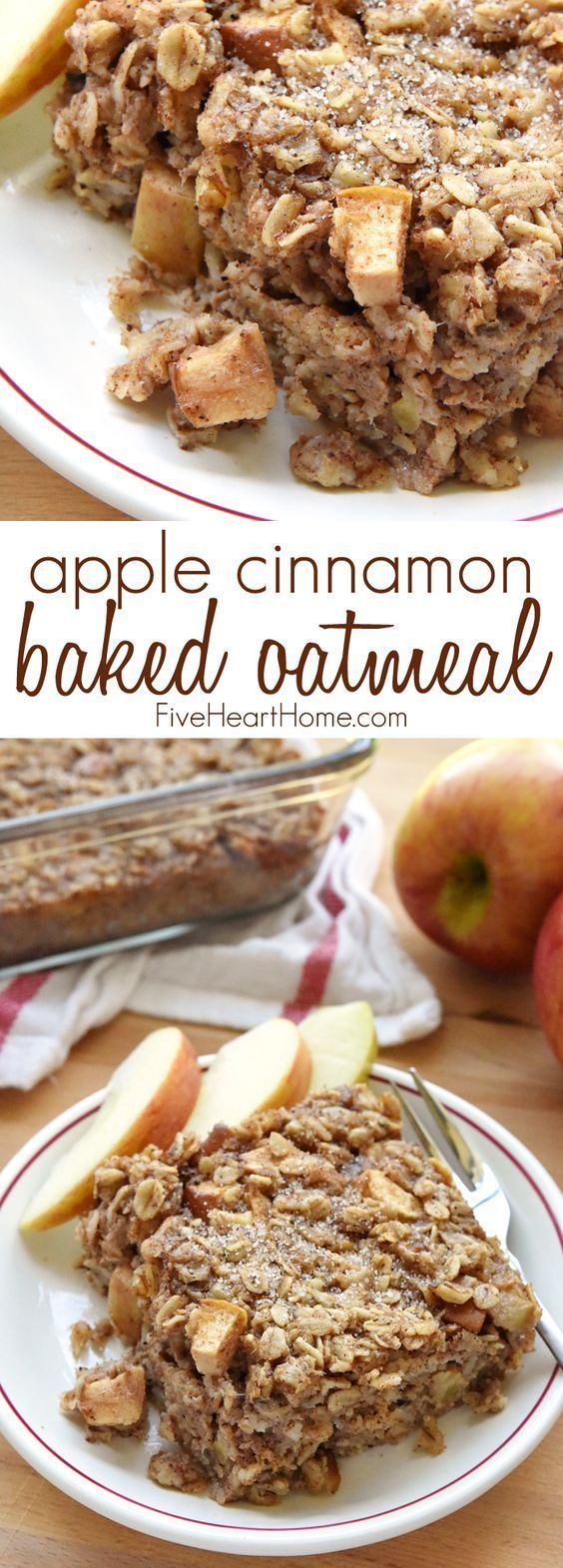 Apple Cinnamon Baked Oatmeal loaded with tender apples