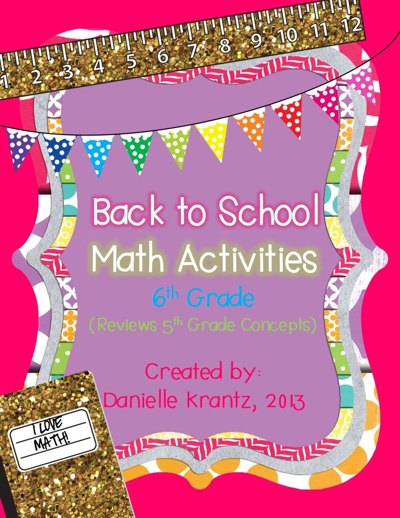 6th Grade Math Back to School Activities | Math, Activities and School