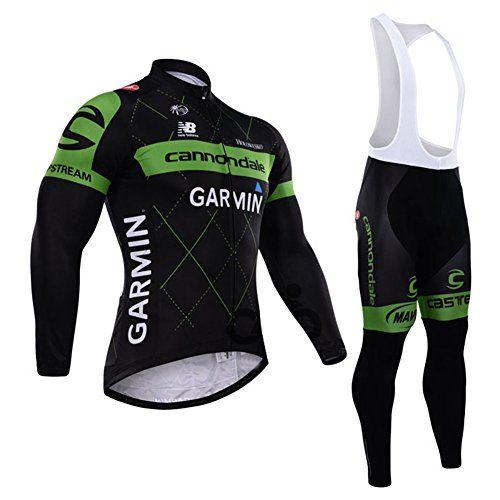 Mens Long Sleeve Cycling Jersey Thermal Bib Pants Set Road Bike MTB Bicycle Top