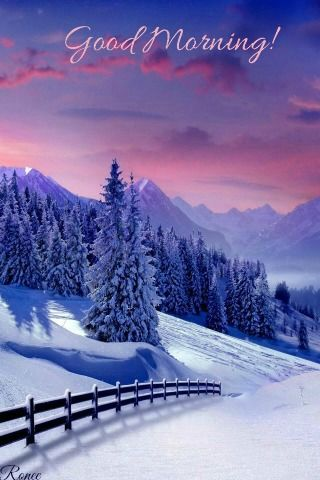 Good Morning Winter Scenery Winter Landscape Winter Pictures