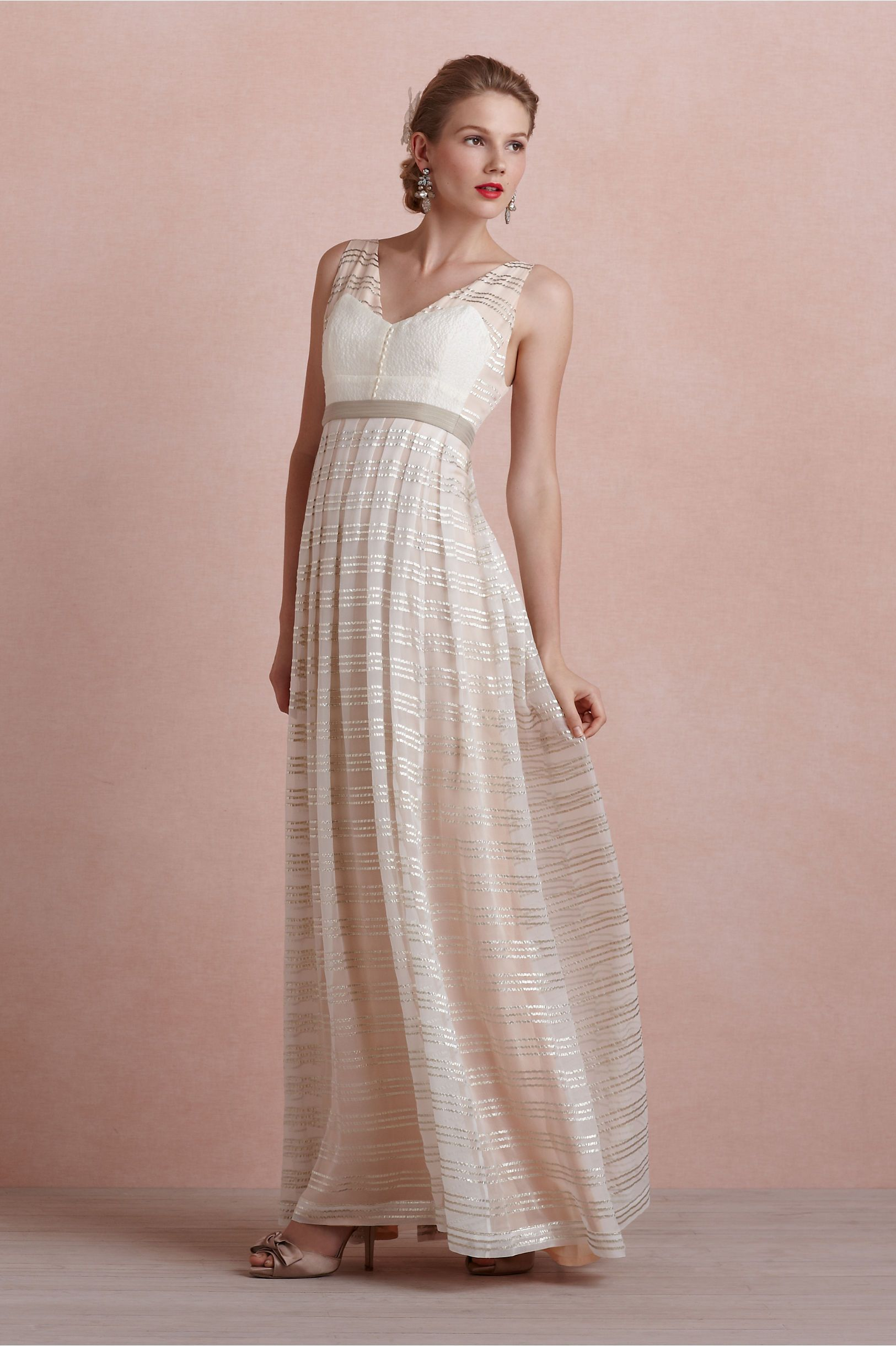 elegant   Blush Golden Strata Dress BHLDN   Wear It Out   Pinterest
