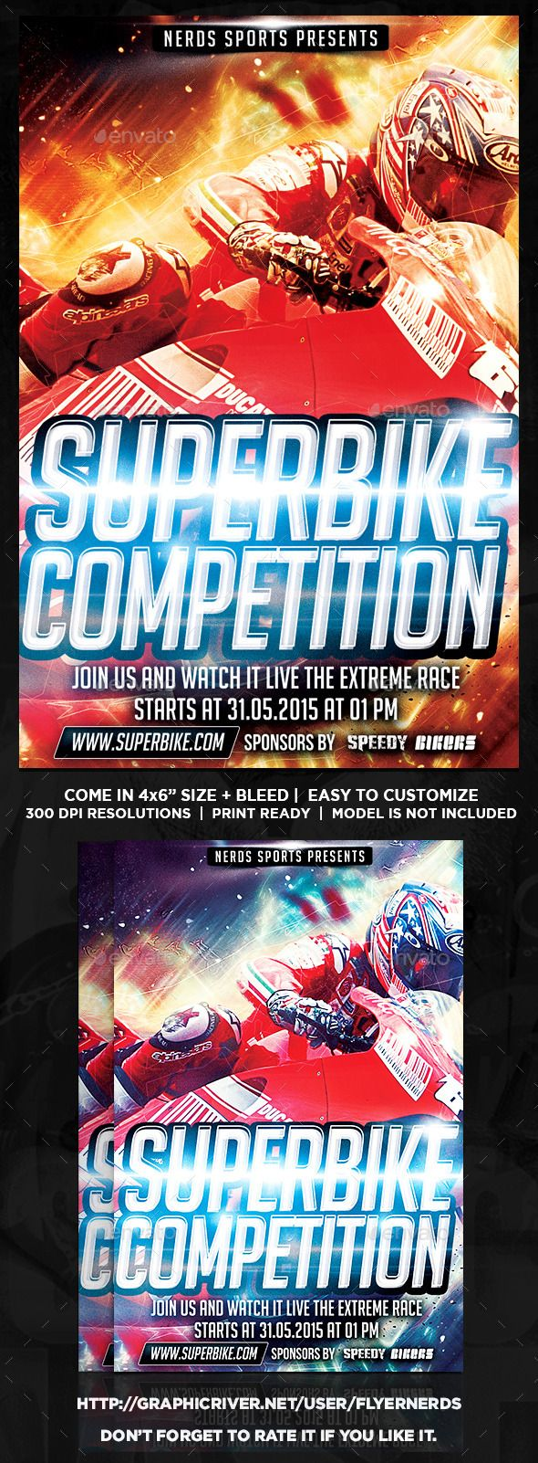 superbike 2k15 sports flyer event flyers flyer template and event