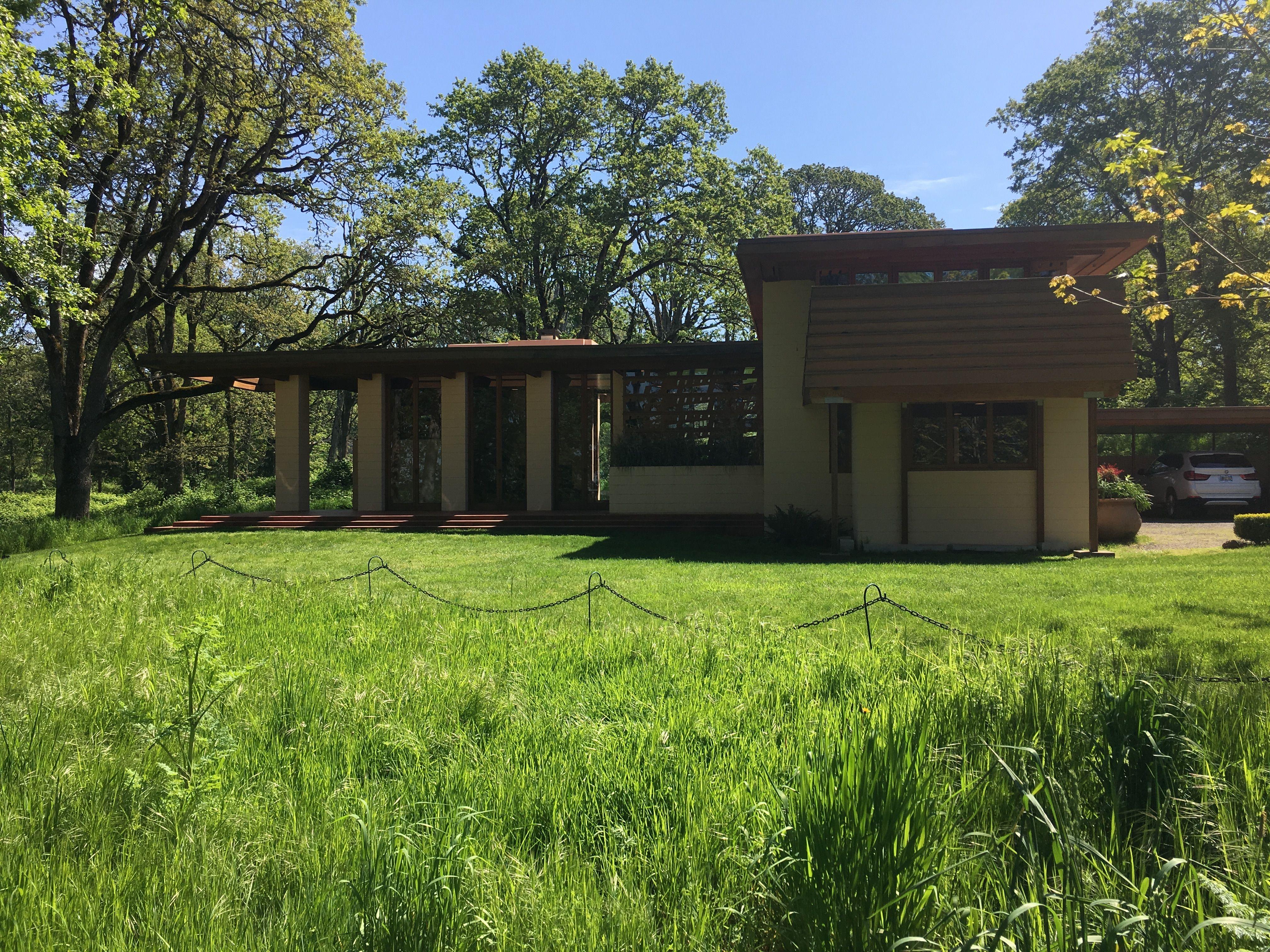 Conrad And Evelyn Gordon House 1957 63 Relocated To Silverton Oregon 2001 Usonian Style Frank Lloyd Wrigh Usonian Style Usonian Frank Lloyd Wright Usonian