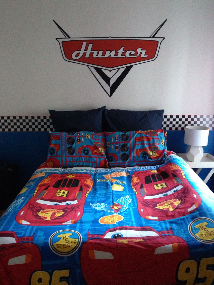 Marvelous Disney Cars Theme Bedroom Finally Complete For Hunter Home Interior And Landscaping Ponolsignezvosmurscom