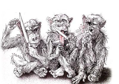 3 Wise Monkeys Sharp Objects Monkey Tattoos Art Wise Monkeys