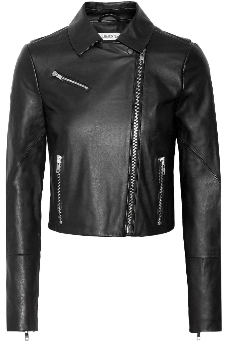 Black Gigi leather biker jacket Elizabeth and James
