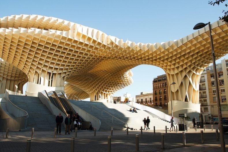 Bangunan Kayu Terbesar Dan Terkeren Sedunia Sevilya Parametricheskij Dizajn Ispaniya