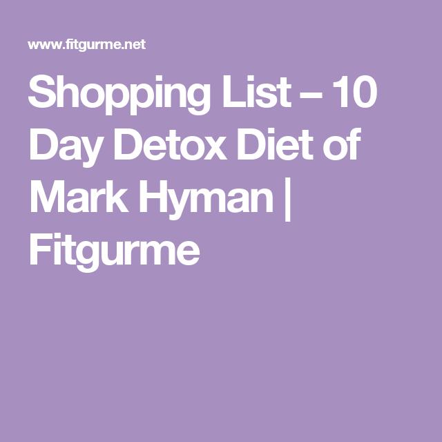 food list on dr hyman diet