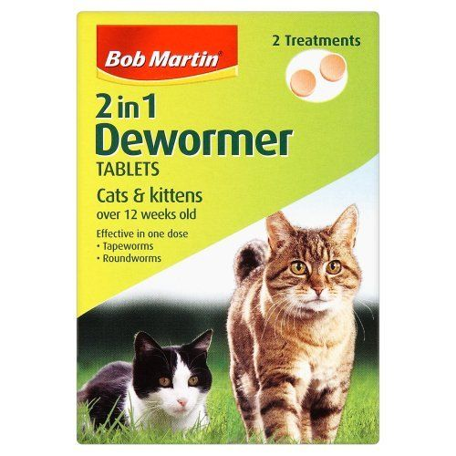 Bob Martin 2-In-1 Dewormer Tablets For Cats And Kittens - http://www.thepuppy.org/bob-martin-2-in-1-dewormer-tablets-for-cats-and-kittens/