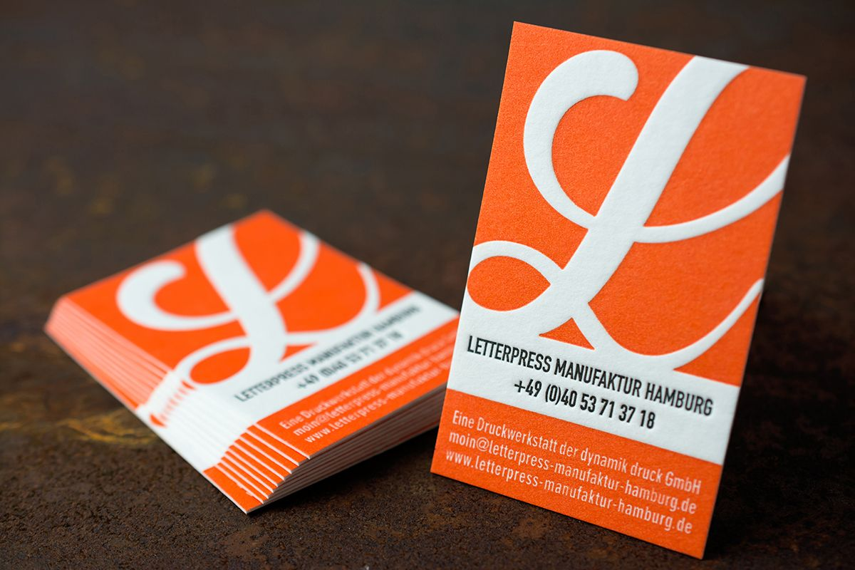 Einzigartige Visitenkarten Letterpress Manufaktur Hamburg