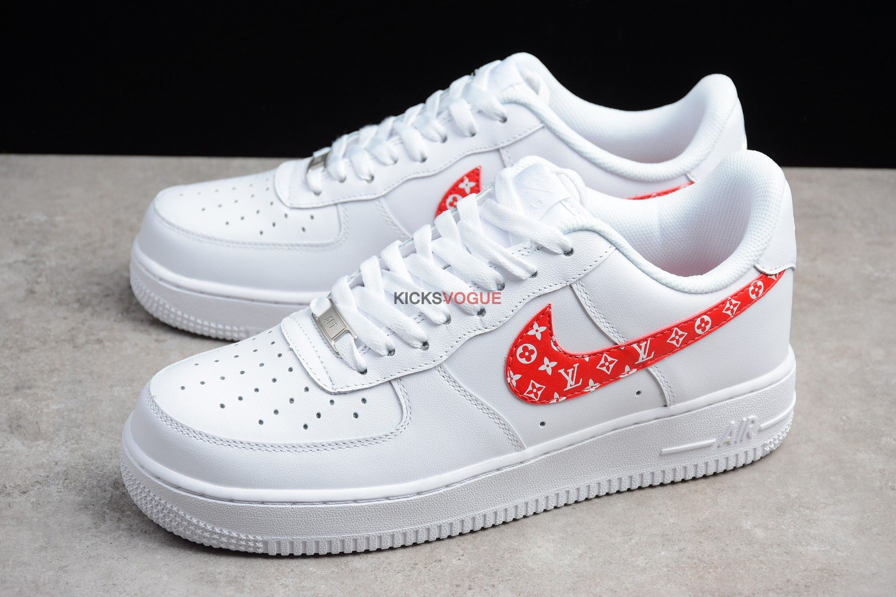 Nike Air Force 1 x Supreme x LV Louis Vuitton Custom | Louis ...