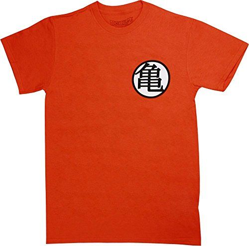 Ripple Junction Dragon Ball Z Kame Symbol Adult T-Shirt Large Orange @ niftywarehouse.com