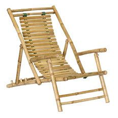 This rustic bamboo beach chair looks like it would sit very well. Where's the cabana boy?