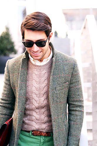 グレーのツイードジャケット コーディネート(メンズ) | Italy Web
