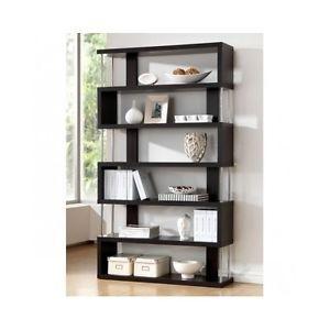 Modern Wall Shelving Unit Zig Zag Display Shelves Contemporary Home Decor Wood Interieur Modern Shelving