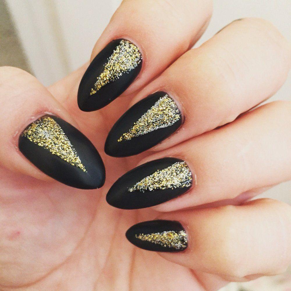 Asia Nails Salon Chicago Il United States Almond Shape Black