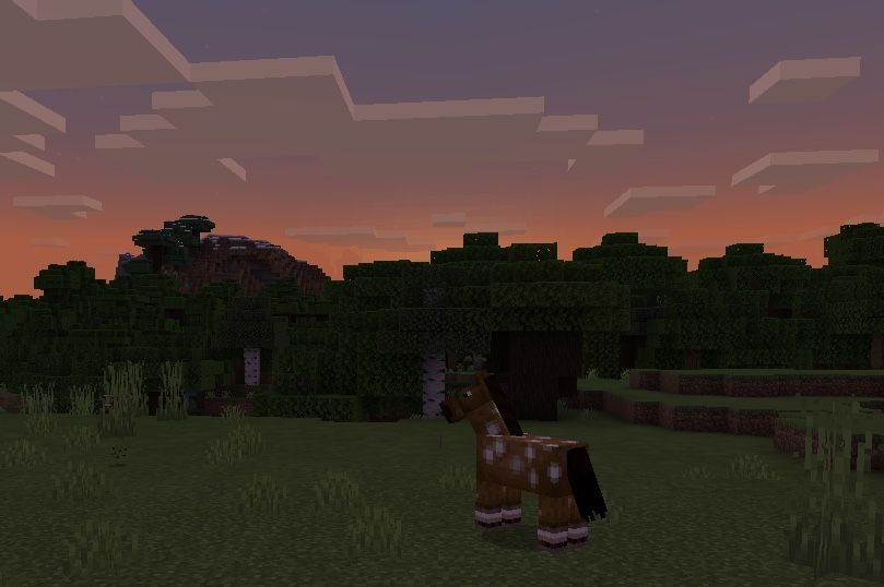 Aesthetic Sunset In Minecraft Minecraft Wallpaper Sunset Background Images