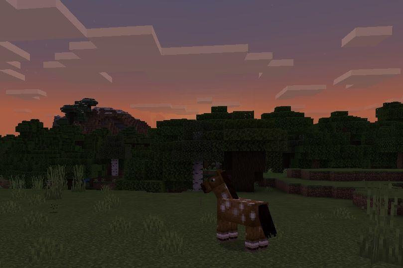 Aesthetic Sunset In Minecraft Minecraft Wallpaper Minecraft Minecraft Horse