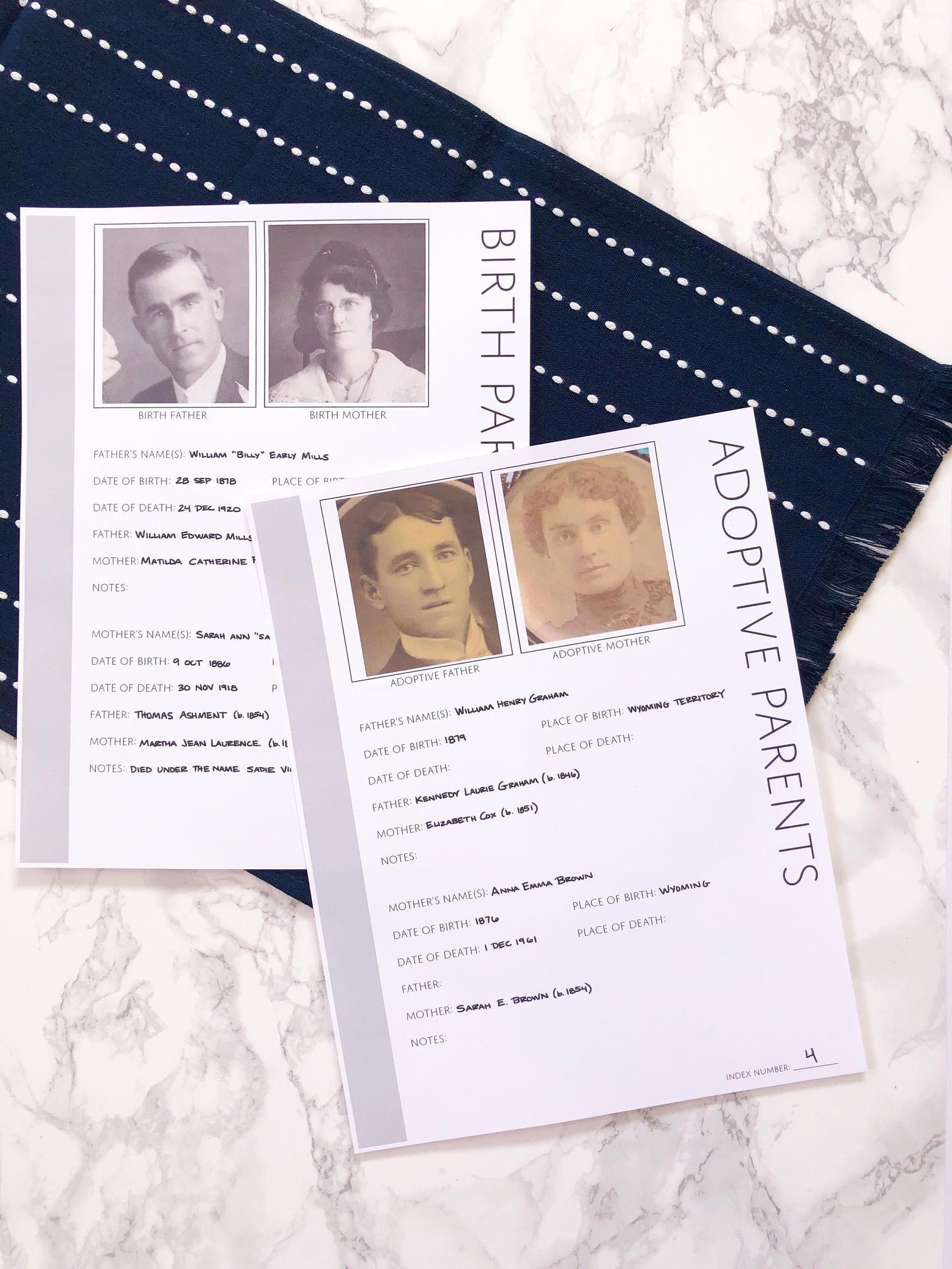 Set Of 100 Genealogy Worksheets Digital Download With
