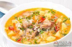 Receita de Sopa de frango com batata em Sopas e caldos, veja essa e outras receitas aqui!