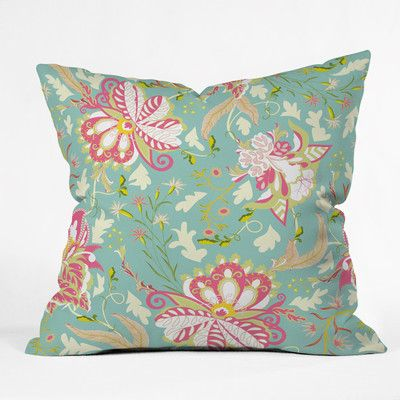 """East Urban Home Sabine Reinhart Oh Happiest Day Polyester Throw Pillow Size: 26"""" H x 26"""" W x 7"""" D"""