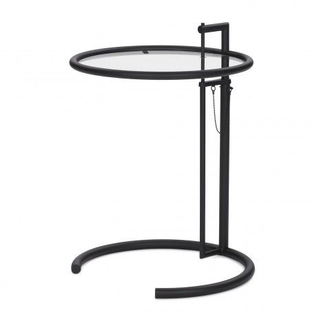 Charming Adjustable Table E 1027 Black Eileen Gray Classicon Home Design Ideas