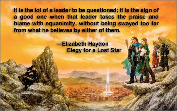 Quote Of Elizabeth Haydon In Elegy For A Lost Star From Her Symphony Of  Ages Novels